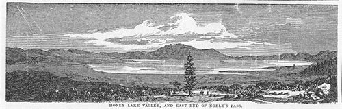 Honey Lake Valley and east end of Nobles Pass